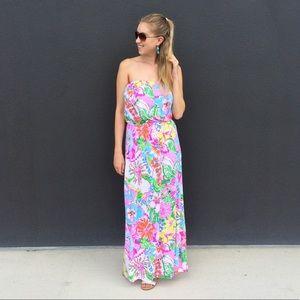 Lilly Pulitzer x target strapless maxi dress M